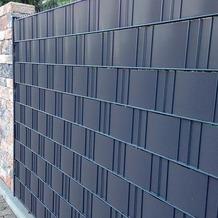 NOOR Sichtschutzstreifen PVC 0,19x2,55m Zaunblende Hart Farbe anthrazit ~RAL 7016