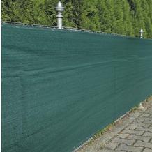 NOOR Zaunblende Sichschutz Zaun Winddurchlässig grün ca. Größe 1,0x5 m