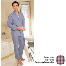 Novila Pyjama Marco 1/1 bordeaux/gem. 48