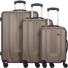 NOWI Hardshelled 3.0 4-Rollen Kofferset 3tlg. mit Doppelrollen bronze