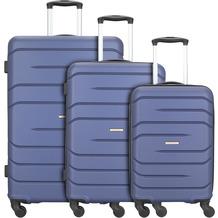 NOWI Milano 5.0 4-Rollen Kofferset 3tlg. blau