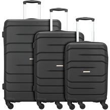 NOWI Milano 5.0 4-Rollen Kofferset 3tlg. schwarz