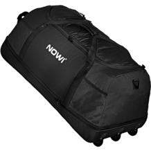 NOWI XXL 3-Rollen Reisetasche platzsparend 81 cm mit Dehnfalte schwarz