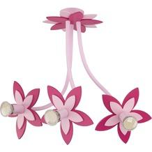 Nowodvorski FLOWERS pink III Deckenleuchte Deckenleuchte pink drei Blumen
