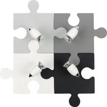 Nowodvorski PUZZLE GRAY 4er Deckenleuchte weiß/grau/anthracit