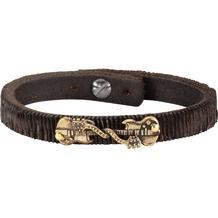 NOX Armband Leder braun Edelstahl  12245