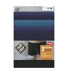 nur der Boxer Cotton Strech 3er Pack blau 5=M