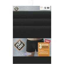 nur der Boxer Cotton Strech 3er Pack schwarz 5=M