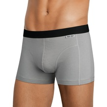 nur der Boxer Cotton Stretch 2er Pack hellgrau 5=M