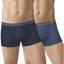 nur der Boxer GOTS Organic Cotton 2er Pack blau/blau melange 5=M