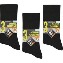 nur der Herren Ohne Gummi Socken 9er -940 schwarz 39-42