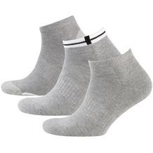 nur der Herren Sneaker Socken Sport 3er grau melange 39-42