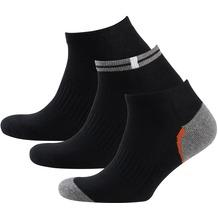 nur der Herren Sneaker Socken Sport 3er schwarz 39-42