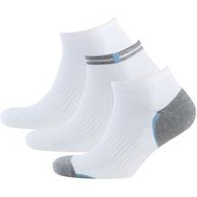 """nur der Herren """"Sneaker Socken Sport 3er"""" weiß 39-42"""