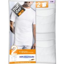 nur der T-Shirt 100% Cotton Rundhals DP-030 weiß 5, 2er Pack