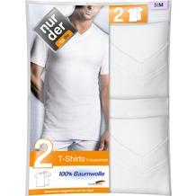 nur der T-Shirt 100% Cotton V-Ausschnitt DP-030 weiß 5, 2er Pack