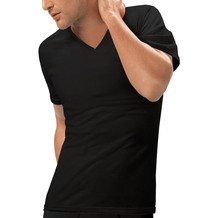 nur der T-Shirt 3D-Flex V-Ausschnitt schwarz 5 = M