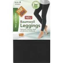 nur die Baumwoll Leggings schwarz 38-40=S