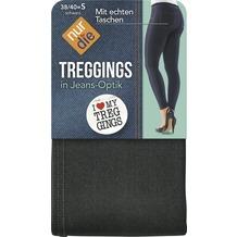 nur die Treggings in Jeans-Optik schwarz 38-40=S