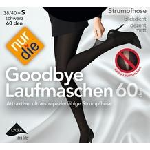 nur die Goodbye Laufmaschen 60 Strumpfhose schwarz 38-40=S