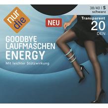 nur die Goodbye Laufmaschen Energy schwarz 38-40=S