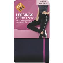 nur die Leggings Comfort & Active dkl.blau / pink 38-40=S