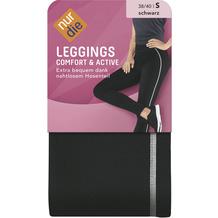 nur die Leggings Comfort & Active schwarz/weiß 38-40=S