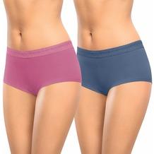 nur die Mode Doppel Shorty-306 jeans-blau/altrosa 36-38