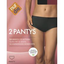 nur die Panty 2er Pack schwarz/bordeaux 36-38