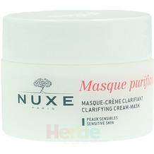 NUXE Masque Purifiant Doux Clarifying Cream-Mask Sensitive Skin / With Rose Petals / Face and Neck, Gesichtsreinigungsmaske 50 ml