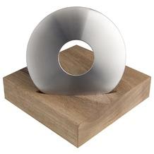 ODIN Flaschenöffner DISC Ø 70 mm x 12 mm - Holzständer 80 x 80 x 20 mm