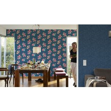 Oilily Home Mustertapete Oilily Atelier, Tapete, blau 10,05 m x 0,53 m