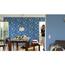 Oilily Home Mustertapete Oilily Atelier, Tapete, blau, weiß 10,05 m x 0,53 m