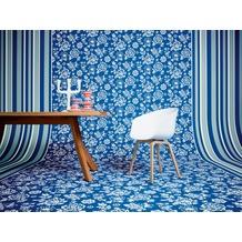 Oilily Home Streifentapete Oilily Atelier, Tapete, blau, rot, weiß 10,05 m x 0,53 m