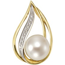 Orolino Anhänger 585/- Gelbgold Perle Brillanten  12861