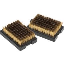 Outdoorchef Ersatzbürstenköpfe mit Messingborsten, 2 Stück, schwarz