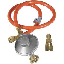 Outdoorchef Gasdruckregler 50mB mit Schlauch und DE Anschluß