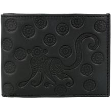 oxmox Leather Geldbörse Leder 10,5 cm monkey