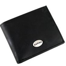 oxmox Leather Geldbörse Leder 12 cm black