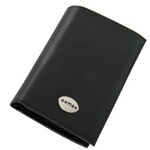 oxmox Leather Kombi-Geldbörse Leder 9,5 cm black