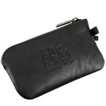 oxmox Leather Schlüsseletui Leder 11,5 cm black