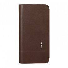 Ozaki O!Coat aim Folio Leder-Case für Apple iPhone 6 Plus braun