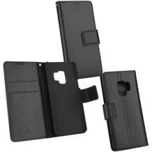 Fontastic OZBO Ledertasche Diary Piel schwarz NFC (RFID) Leseschutz, komp Sam Gal S9