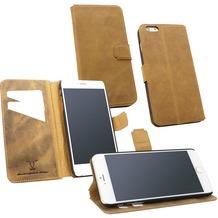 Fontastic OZBO Ledertasche Diary Rebo - sand - für Apple iPhone 6+/6s+