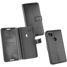Fontastic OZBO PU Tasche Diary Business schwarz komp. mit Google Pixel 2 XL