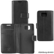 Fontastic OZBO PU Tasche Diary Business schwarz komp. mit Motorola Lenovo Moto G5 Plus