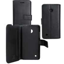 Fontastic OZBO PU Tasche Diary Business - schwarz - für Nokia Lumia 530
