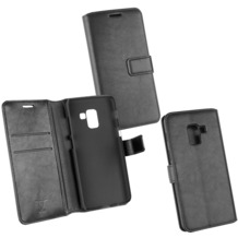 Fontastic OZBO PU Tasche Diary Business schwarz komp. mit Samsung Galaxy A5 (2018)