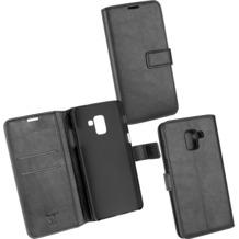 OZBO PU Tasche Diary Business schwarz komp. mit Samsung Galaxy A8+ (2018)
