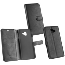 OZBO PU Tasche Diary Business schwarz komp. mit Samsung Galaxy J6 Plus (2018)